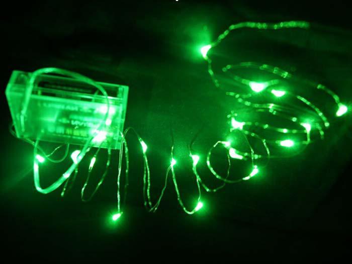 2m 3m 4m 5m LED-stränglampor Batteristyrd LED Koppar trådsträng Fairy Light Wedding Christmas Outdoor Decoration
