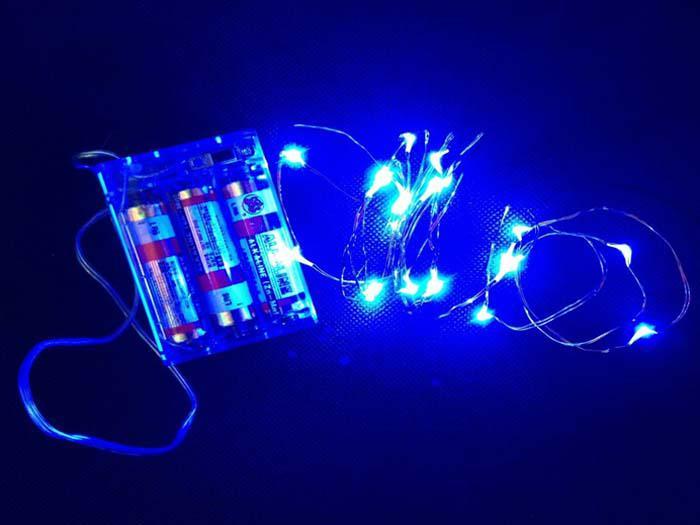 2M 3M 4M 5M led luci stringa A pile LED Filo di rame String Fairy Light Matrimonio Natale Decorazione esterna