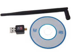 Wholesale Dbi Network - 1305 Free shipping CL-UWL02 5 dbi 150M USB 2.0 WiFi Wireless LAN Network Card Adapter 802.11 n g b 5dBi Antenna For Computer