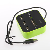 Wholesale US Stock All in Multi card Reader USB Ports HUB Mbps Memory Card Reader