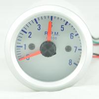 "Wholesale Rev Gauge - 2"" 52mm Car Rev Counter Tacho Tachometer Pointer Gauge Meter RPM Amber +pods Free shipping"