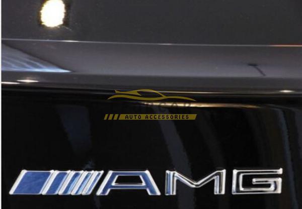 10 Unids / lote Metal Plata Cromo 3 M AMG Etiqueta Decal Logo Emblema Envío Gratis Nueva Caliente Buena calidad Insignias de coches