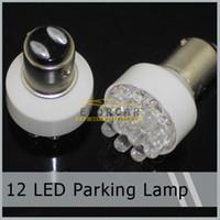 ampoule d'angle achat en gros de-50ocs / lot 1157 1076 12 LED Clignotants Stop Tail Corner Frein De Stationnement Ampoule Lampe 12V Livraison Gratuite