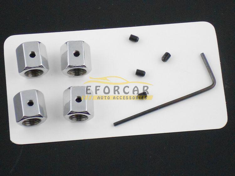/ 검정 흰색 도난 방지 엠블럼 자동차 타이어 휠 밸브 밀폐형 스템 캡 무료 배송