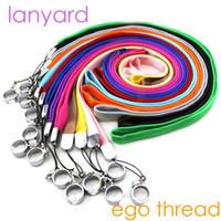 ego c lanyard achat en gros de-Lanyard de cigarettes électroniques ego ego-ego-k ego-c ego w evod batterie mods ego 510 kits de démarrage fil Collier String Neck Chain