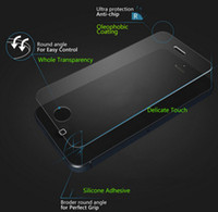 Wholesale Clear Screen Galaxy S4 - Premium Tempered Glass screen protector For iPhone 6 6S plus 5S 5c 4S Galaxy S6 S5 S4 note3 4 5 Explosion Proof 0.3mm 9H 2.5D Arc clear film