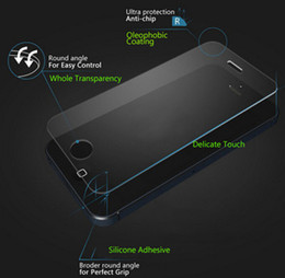 Wholesale Note3 Screen Protector - Premium Tempered Glass screen protector For iPhone 6 6S plus 5S 5c 4S Galaxy S6 S5 S4 note3 4 5 Explosion Proof 0.3mm 9H 2.5D Arc clear film