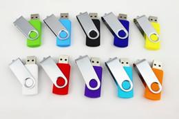 Wholesale Drives 16g - swivel 64G USB 2.0 gift Flash Memory Pen Drives mini Fine GIFT Sticks Disks Discs 16G Pendrives Thumbdrives