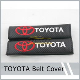 Wholesale Point Pad - 1Pair(=2Pcs) Sports Black Carbon Fiber Car Seatbelt Cover Shoulder Pad Pads for TOYOTA Free Shipping