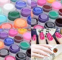 Wholesale Colour Gel 12 - Pro New 12 Colours Solid Pure UV Gel Nail Art Tips Extension Manicure Builder Gel Set