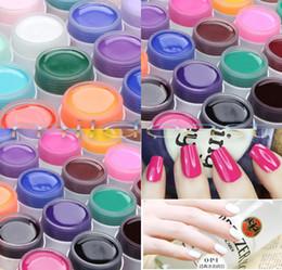 Wholesale Pure Solid Uv Builder Gel - Pro New 12 Colours Solid Pure UV Gel Nail Art Tips Extension Manicure Builder Gel Set