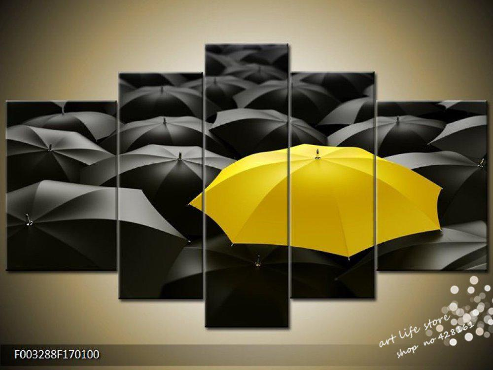 2018 Rain Memory Yellow Umbrella Abstract Oil Painting On Canvas No ...