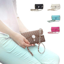 Wholesale Bling Wristlet - S5Q Bling Wristlet Wallet Flip Cover Case For Samsung Galaxy Note 3 III N9000 AAADPB