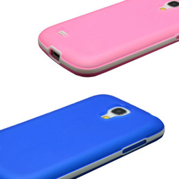 Wholesale Galaxy S4 Thin Bumper - S5Q Rubber Bumper Case Ultra Thin Soft Cover For Samsung Galaxy S4 Mini I9190 AAADOL