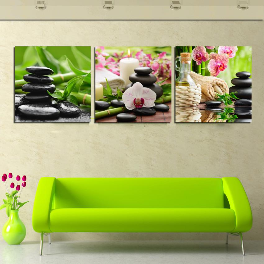 2018 Hot Sell Canvas Wall Art Modern Nature Green Painting Flower Home Picture Paint On Prints Decor From Xiaoweng123 3971