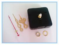 Wholesale Diy Clocks Movements - Whosale 50PCS Quartz Clock Movement For DIY CD Clock Sweep No Tic Fit Up DIY Short Hands Repair Your Clocks