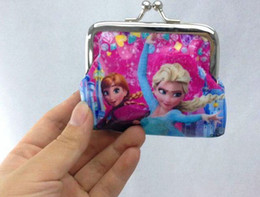 Wholesale Skull Purses Wallets Wholesale - Fashion Frozen wallet coin purse kids children girl cartoon card holder handbag key bag change purses pocket 5pcs