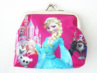Coin Purses Unisex mixed colors Fshion Frozen wallet coin purse kids children girl women cartoon card holder handbag key bag change purses cluth wallets pocket bags
