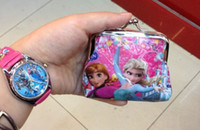 Coin Purses Unisex mixed colors Cute Frozen wallet coin purse kids children girl women cartoon card holder handbag key bag change purses cluth wallets pocket bags