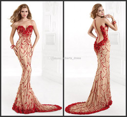 Wholesale One Shoulder Free Size - 2015 A-line sweep train zipper sleeveless evening party prom gown dresses embroidery applique sequins free shipping modern new hot sale