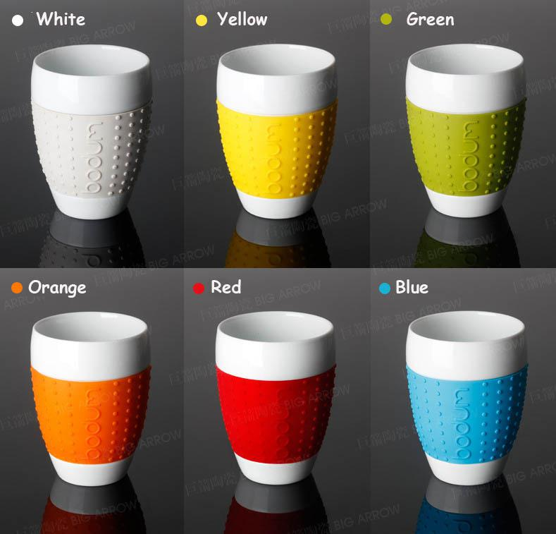 Bodum Ceramic Mug Cup Coffee Cup Silica Gel Anti Hot 350ml