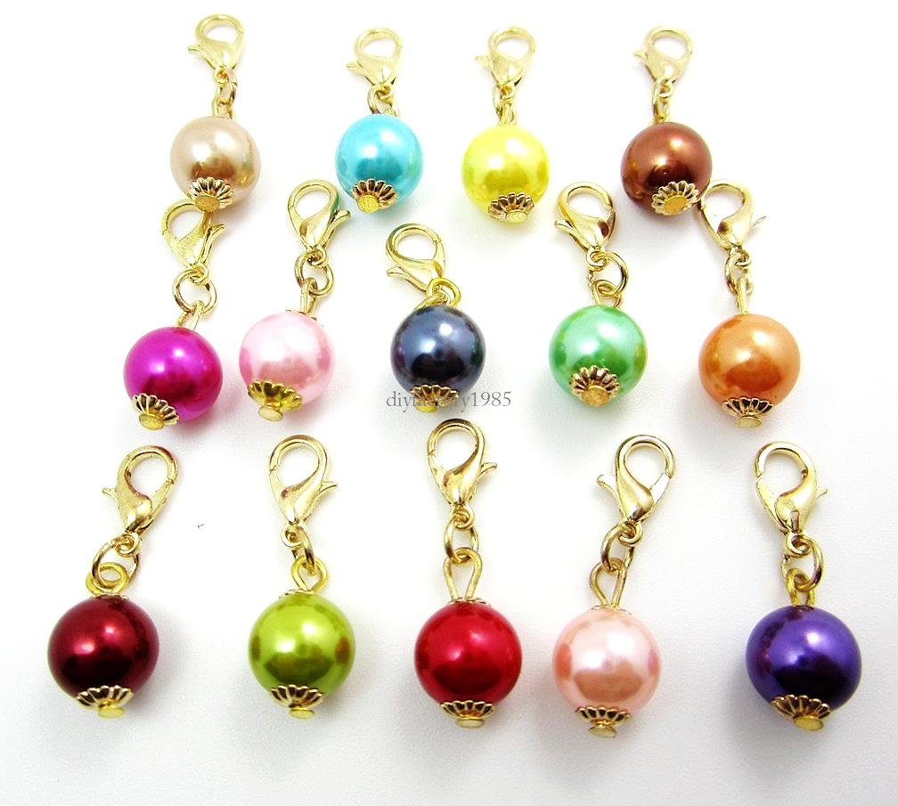 Discount Fashion Charms Pearldangles Necklace Pendants Fit Floating