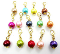 "Wholesale Origami Love - Fashion Charms 20PCS ""Pearl""dangles necklace pendants fit floating charm Origami owl locket with Lobster clasp LSFE02*20"