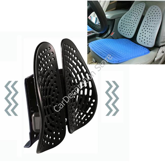 new black massager lumbar back support seat cushion pad for all