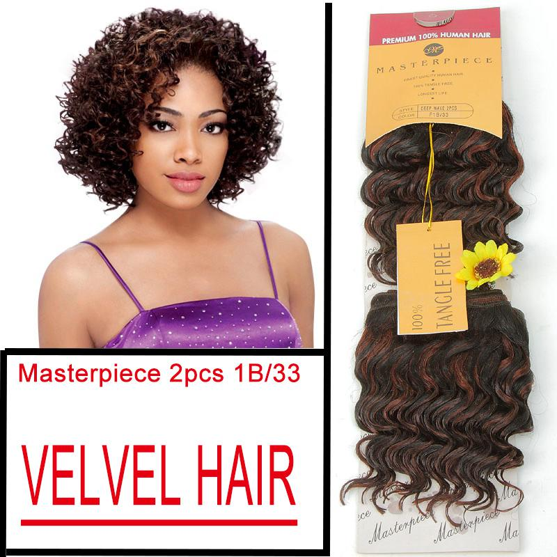 Cheap masterpiece deep wave color 1b33 pack human hair mix 6pcsmasterpiece deep wave color 1b33 2pcspack human hair mix synthetic hair weaving short hair extension deep wave hair weaves free ship pmusecretfo Image collections