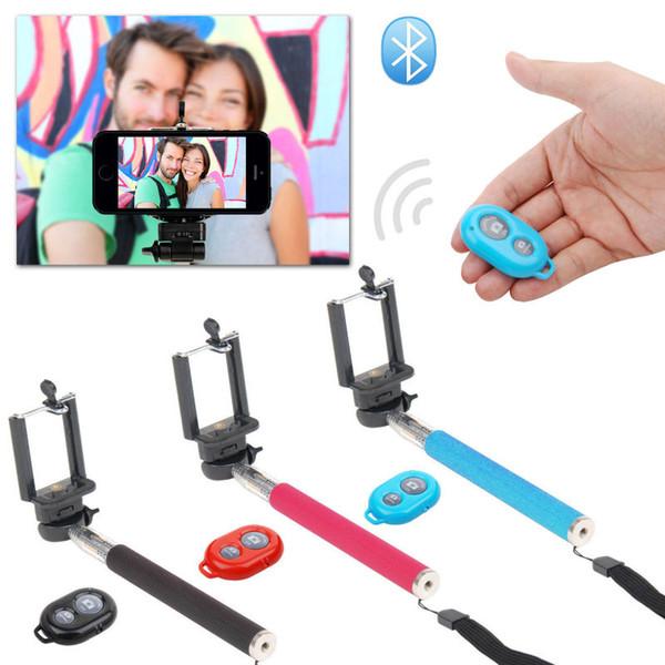 Бесплатно DHL выдвижная ручной автопортрет монопод selfie stick фотография Bluetooth затвора камеры дистанционного управления для iPhone Samsung