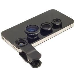 3 в 1 Универсальный клип объектив широкий объектив + макро объектив + 180 рыбий глаз объектив для iPhone Samsung все мобильные телефоны
