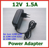 Wholesale Charger 12v Acer - 12V 1.5A 18W Tablet Battery Charger for Acer Iconia Tab w3 w3-810 A100 A101 A200 A210 A211 A500 A501 for Lenovo Miix 10 Miix2 10