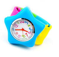 Wholesale Slap Watch Mixed - 2015 NEW Hot Mixed Color Slap Silicone Watch colorful silicone strap Children Kids Viyate Watch gift watches