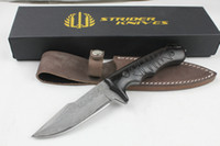 ingrosso lame a coltello fatte a mano-Drop shipping OEM Strider Handmade Steel knife Collection Coltello da caccia Coltelli a lama fissa Coltelli diritti Nuovo in confezione regalo