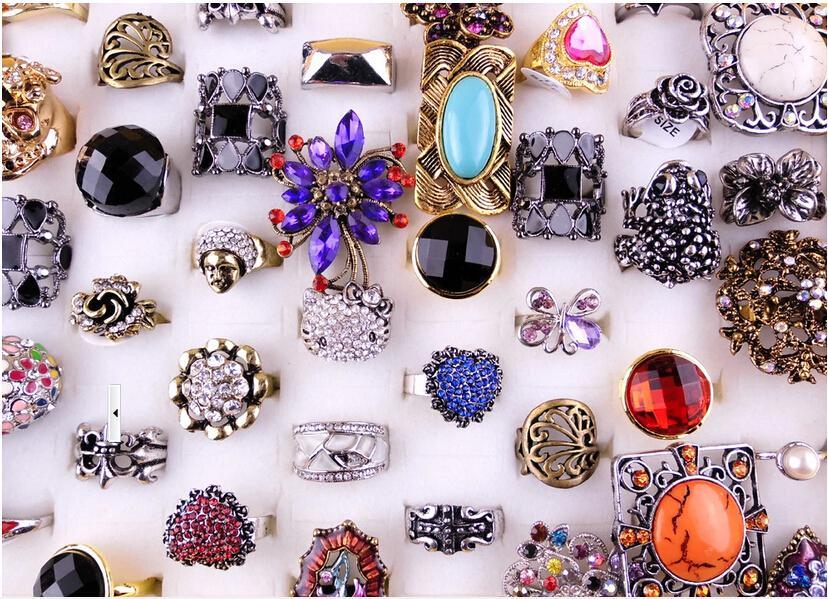 20 قطعة / الوحدة مزيج نمط الأزياء كريستال مفتوحة العنقودية تعديل حلقة للحرف مجوهرات هدية RI8 سفينة مجانية