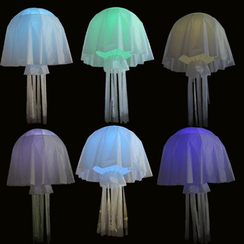 Jellyfish Lamp Shade Inflatable Droplight Kitchen Pendant