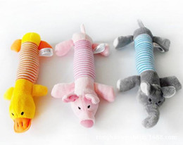 Wholesale Product Sound - New Brand Dog Toys Pet Puppy Chew Squeaker Squeaky Plush Sound Pig & Elephant Toys products[FS01007*1]