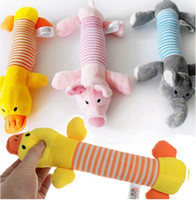 Wholesale Dog Pig Toys - HOT Dog Toy Pet Puppy Plush Sound Chew Squeaker Squeaky Pig Elephant Duck Toys [FS01007*2]