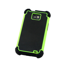 Wholesale Covers For Galaxy S2 - S5Q Hybrid Silicone Case Cover Skin Heavy Duty For Samsung Galaxy SII S2 I9100 AAADOA