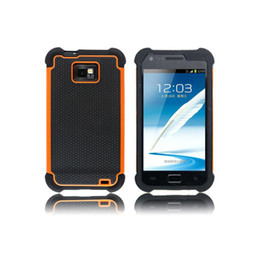 Wholesale Cover Case Silicone S2 - S5Q Hybrid Silicone Case Cover Skin Heavy Duty For Samsung Galaxy SII S2 I9100 AAADOA