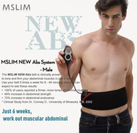 Wholesale Massage Therapy Belt - Update Newest MSLIM Rechargeable ABS Male Slimming Flex Belt ABS System Slim Massage Belt free shipping