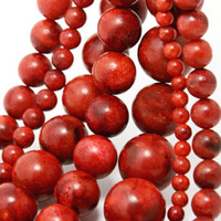 Wholesale Shell Pearl Loose Round Beads - 12mm 14mm 16mm Red Sea Coral Round Ball Beads Coral Pearl Gemstone Loose Spacer Beads Jewelry&DIY Accessoriesl
