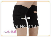 Wholesale Tourmaline Heating Pad Free Shipping - Wholesale-407-Hot-Free shipping 2Pair(4Pieces) Lot Magnetic Therapy knee Protection Heating tourmaline heating Knee Belt knee Massager