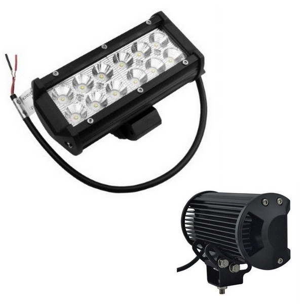 2pcs Waterproof Aluminium 7 Inch 36W Cree LED Work Light Bar 2520LM Spot Beam ALL Cars 4x4 Off Road Lamp 50000 hours Life
