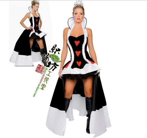 b8d2a8fc5dc Onesies For Adults Renaissance Costumes Women Sexy Costumes Queen Of Heart  Costumes Halloween Sexy Queen Of Hearts Costume Crown+ Dress Teen Halloween  ...