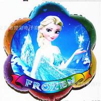 Wholesale Pro Princess - 52 * 63cm Frozen balloon for birthday party Princess frozen Elsa Aluminum foil cartoon helium balloons present the pros and cons of children