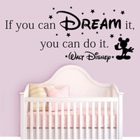 Wholesale People Dreams - Free Shipping If You Can Dream it,You Can Do it Wall Quotes Decor Kids Room Decals