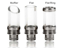 Wholesale Mini Vivi Nova Dct - 510 Glass Muffler Stainless Steel Drip Tips t fit ego vivi nova protank 2 mini 3 DCT RDA RBA Nimbus Enigma Cat Crown patriot igo-w atomizer