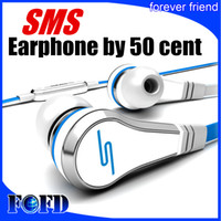 Wholesale Sms Audio Pink - SMS Audio Street By 50 Cent Wired In-ear Headphones with Mic no Control Talk Red Black White Cheap