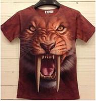 Wholesale Cap Sublimation - New Fashion Unisex Personalized 3D tshirt, Own Design Animal Short Sleeve Shirt, Leopard Lion Sublimation Tees